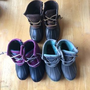 Girls sperry boots size 9.